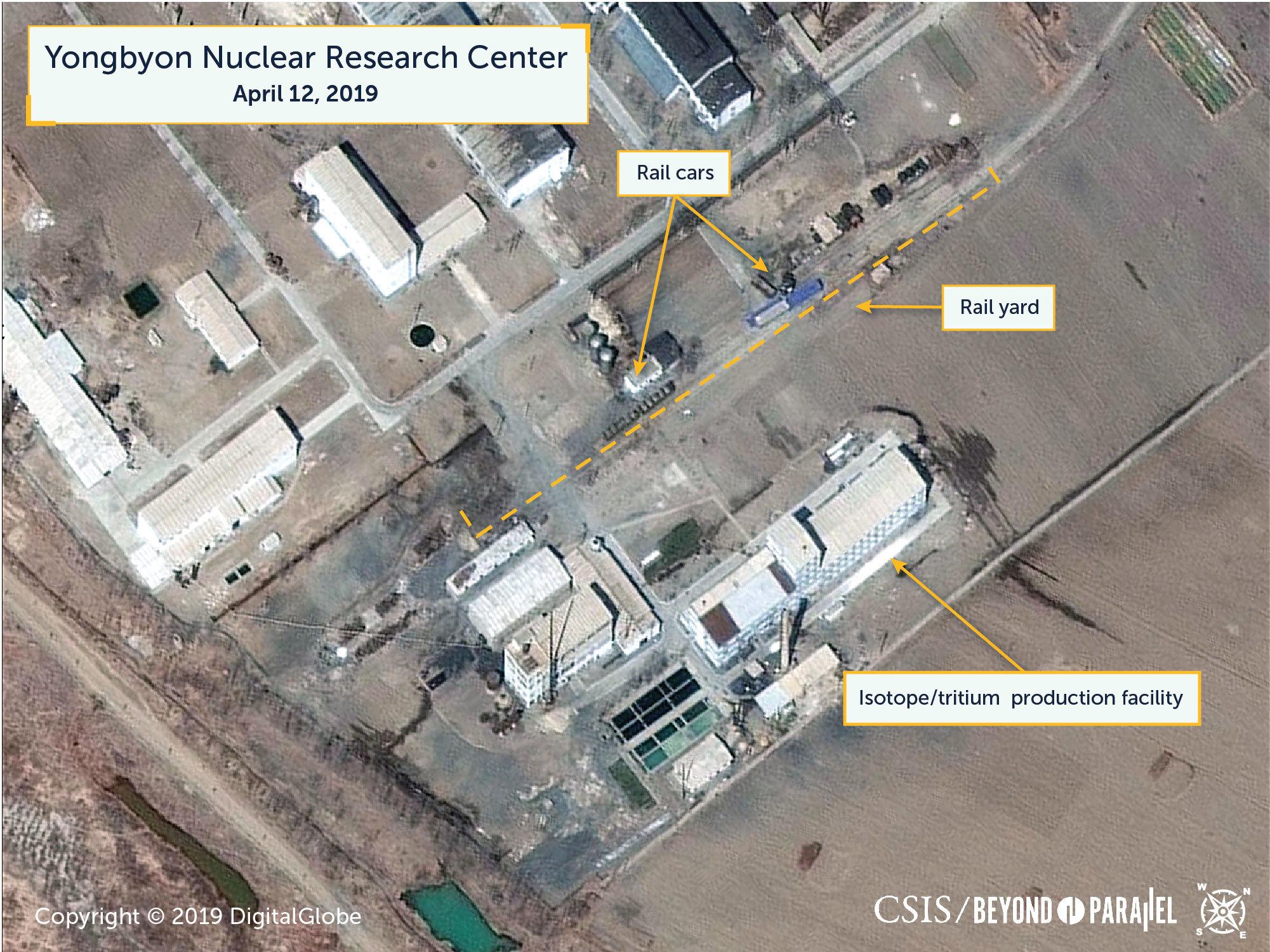 特殊な鉄道車両が写った寧辺核施設の衛星写真/CSIS
