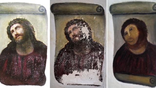スペイン19世紀のフレスコ画、「修復」のなれの果て 悲惨な結…