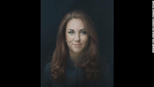 ポール・エムズリー氏が描いたキャサリン妃の肖像画=同氏提供 英キャサリ...  英キャサリン妃の