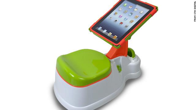 Unique Toys And Gadgets : Cnn ipadスタンド付き「おまる」、効果はいかに?