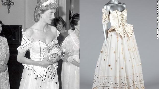 ダイアナ妃のドレスがオークションに=ケリー・テーラー・オークションズから
