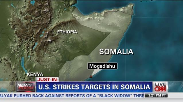米軍、ソマリアで空爆を実施 標的は武装組織幹部