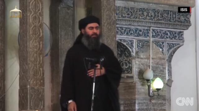ISISの最高指導者アブバクル・バ...