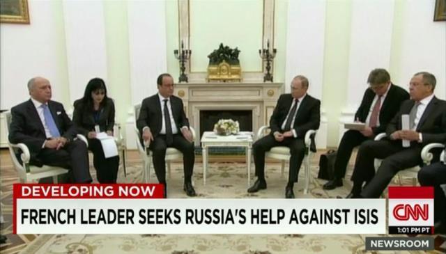 会談を行うオランド大統領(左)とプーチン大統領 関連記事 仏ロ首脳会談... 会談を行うオランド