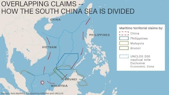 中国など各国が領有権を主張する...