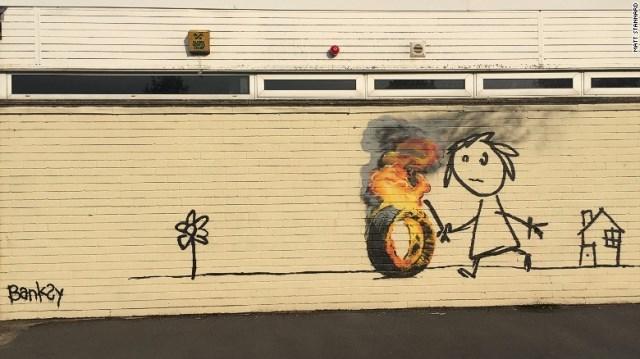 バンクシー: CNN.co.jp : 小学校にバンクシーの壁画、児童に感謝の言葉も 英国
