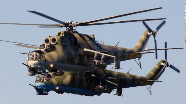 ロシア軍の戦闘ヘリ、Mi24「ハイ...