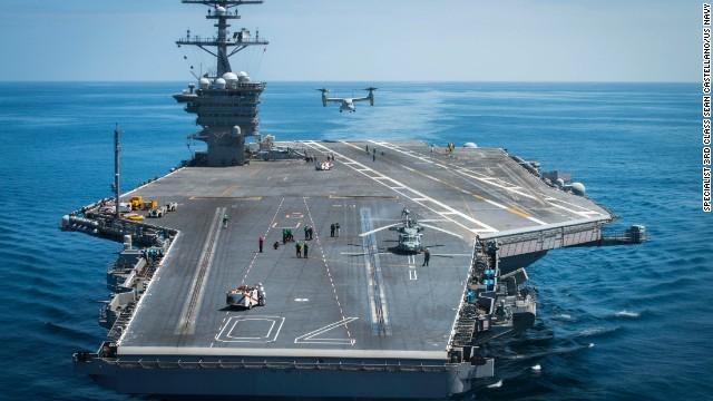 CNN.co.jp : 米空母2隻、日本海...