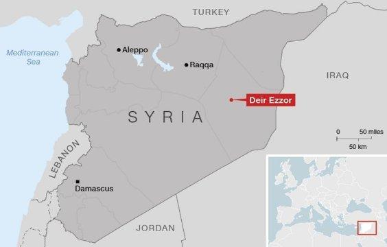 シリア東部の要衝を攻撃