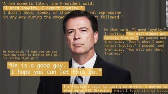 前FBI長官のメモ、政府側が公開拒否を主張