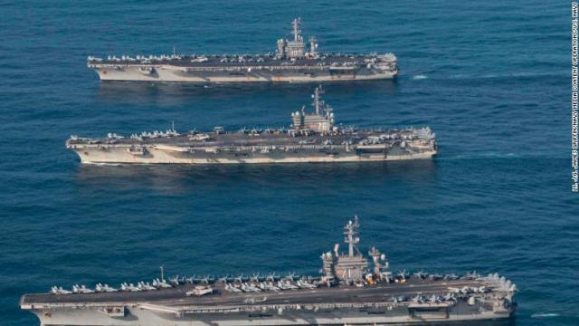 CNN.co.jp : 米空母3隻が集結、日本海で軍事演習
