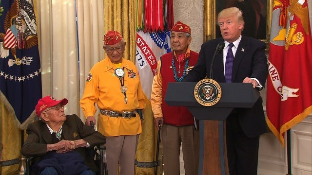 トランプ氏、先住民を称える行事で「ポカホンタス」に言及