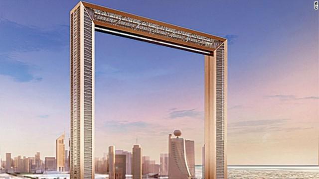 都市を見下ろす巨大な額縁、新名所「ドバイフレーム」完成
