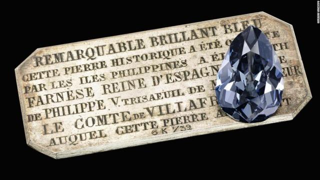 【アメリカ】スペイン王妃のブルーダイヤ、7.4億円で落札 競売大手サザビーズ[05/16] ->画像>11枚