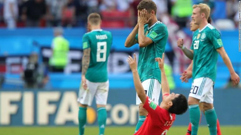 前回王者のドイツが韓国に敗れ、まさかのグループ敗退