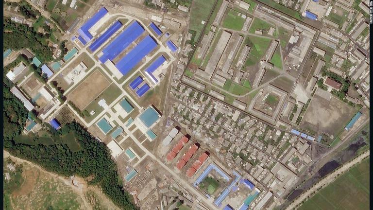 ミサイル製造施設の拡張工事完了を示すという衛星画像