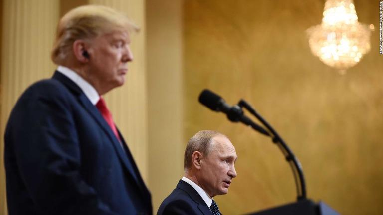 プーチン氏は「とても強い人」、会談後にトランプ氏が語る