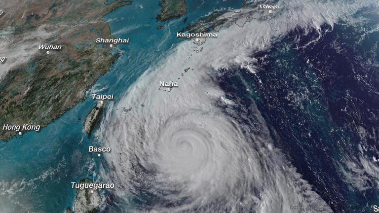 CNN.co.jp : 台風25号、沖縄に接近 先週末から連続