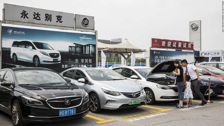 cnn co jp 中国自動車販売が減少 GMやVWなどに打撃