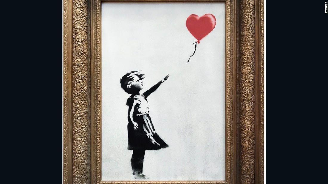 CNN.co.jp  バンクシーの細断絵画、売買成立 作品名は「愛は