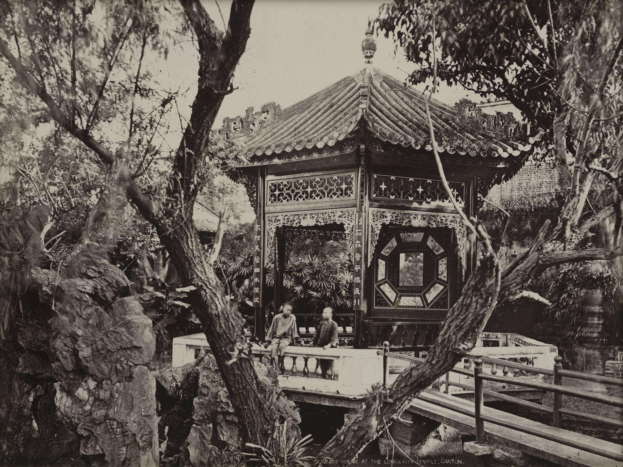 嶺南園林の様子=1870年/The Loewentheil Collection of China Photography