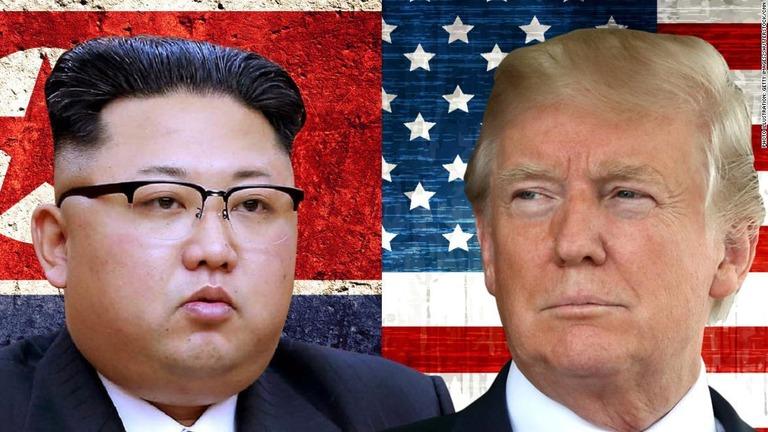 トランプ米大統領(右)が、北朝鮮への制裁を強化しない方針を明言した/Photo Illustration: Getty Images/Shutterstock/CNN