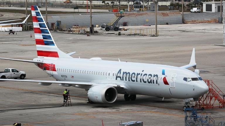 737MAXの運航停止を受け、アメリカン航空が欠航予定期間の延長を発表/Joe Raedle/Getty Images
