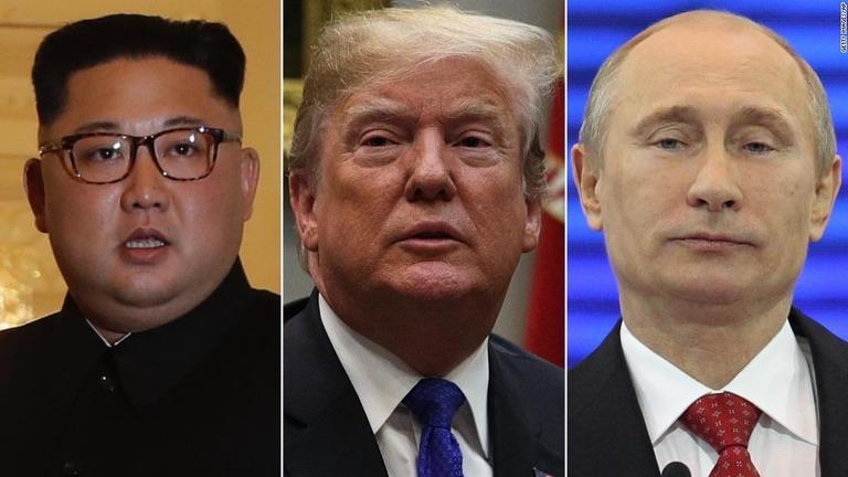 2度目の米朝首脳会談に続き、金正恩氏(左)とプーチン大統領(右)の顔合わせが実現か/Getty Images/AP