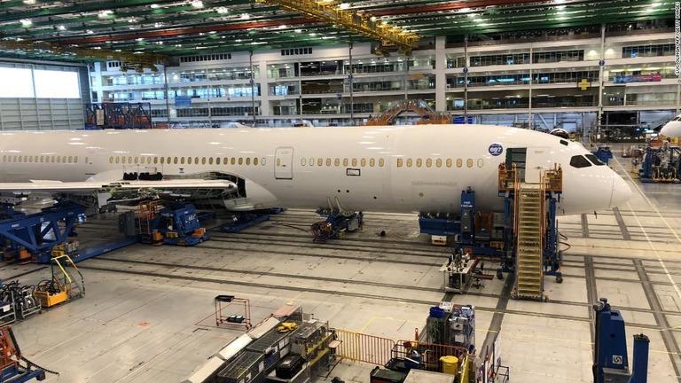 製造が進むボーイングの機体=2018年3月、サウスカロライナ州ノースチャールストン/Luc Olinga/AFP/Getty Images