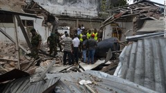 コロンボにある動物園の被害の様子