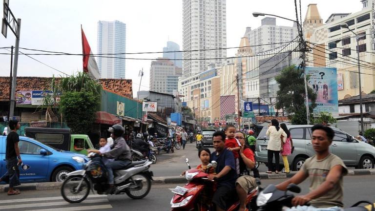 インドネシア政府がジャカルタからの首都移転を計画している/ROMEO GACAD/AFP/Getty Images