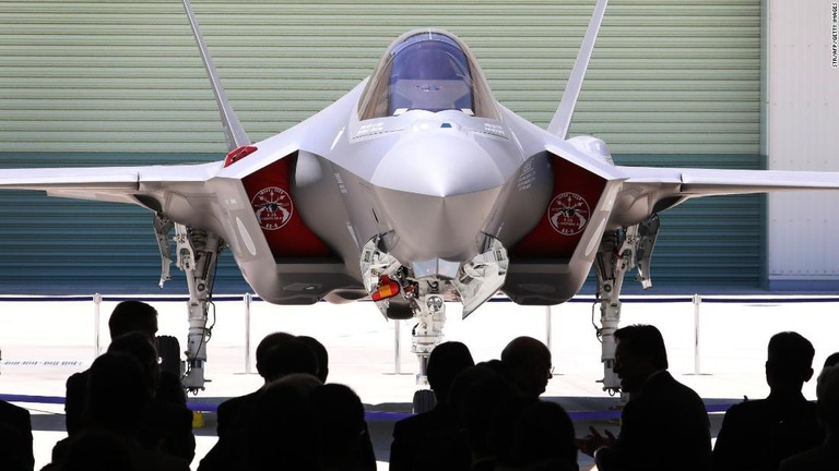 F35の機体/STR/AFP/Getty Images