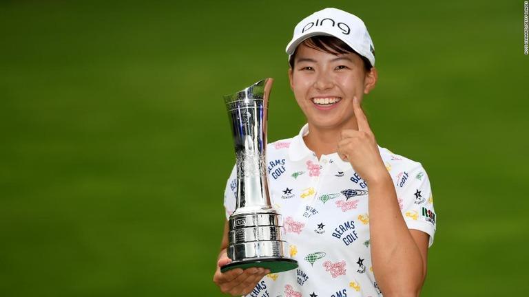 CNN.co.jp  全英女子ゴルフ、渋野が優勝 日本勢として42年