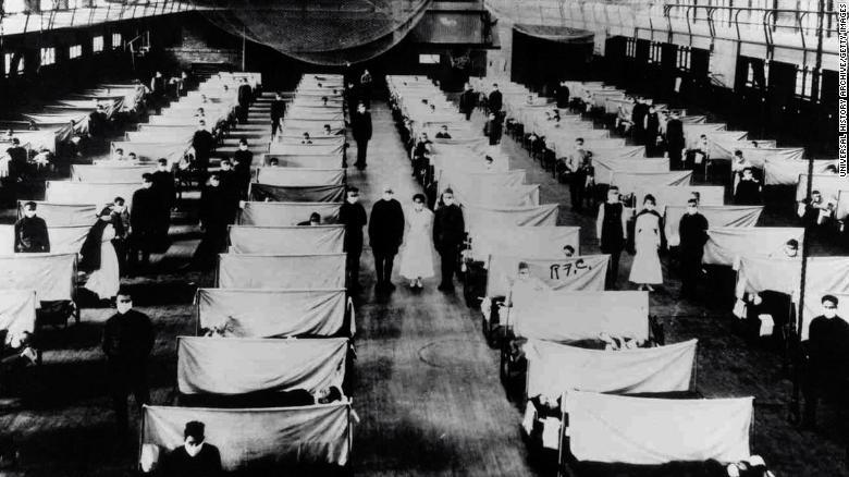 当時も倉庫が隔離病院として使われた/Universal History Archive/Getty Images