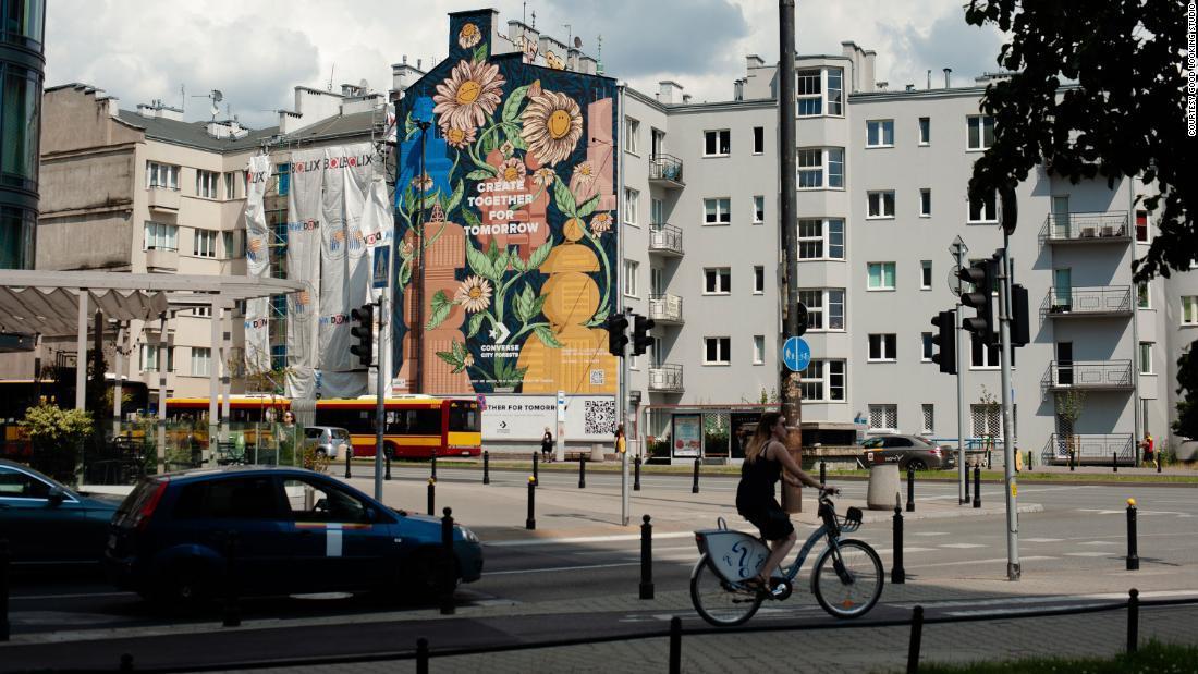空気をきれいにする壁画 コンバースの世界プロジェクト