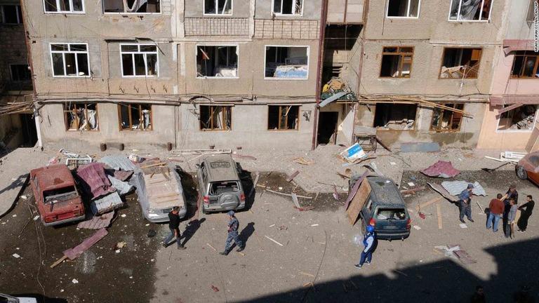CNN.co.jp : アゼルバイジャンとアルメニア、停戦合意を破ったと互いに批判