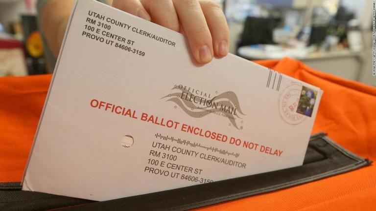 郵便投票を投函した後の行方は?/George Frey/Getty Images North America/Getty Images