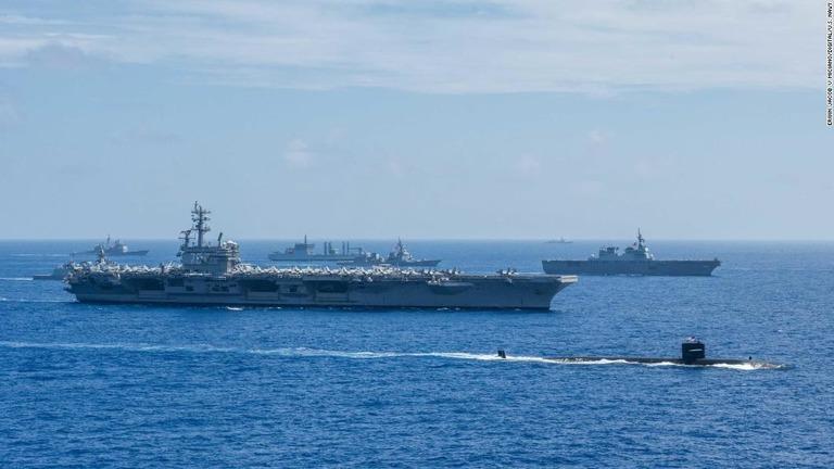 豪、日米印の海上演習に参加 中国にらみ軍事関係強化