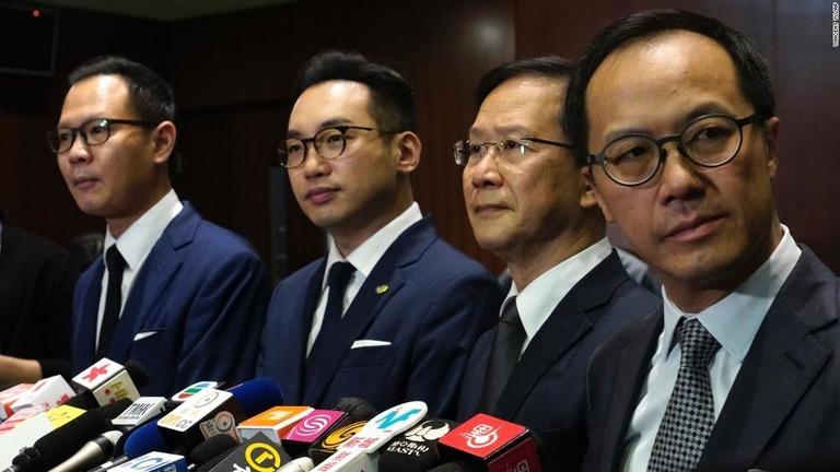 香港民主派4議員の資格取り消し 全人代の決定受け