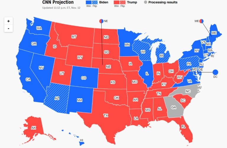 CNN.co.jp : バイデン氏、共和党地盤のアリゾナ州で勝利確実に CNN予想
