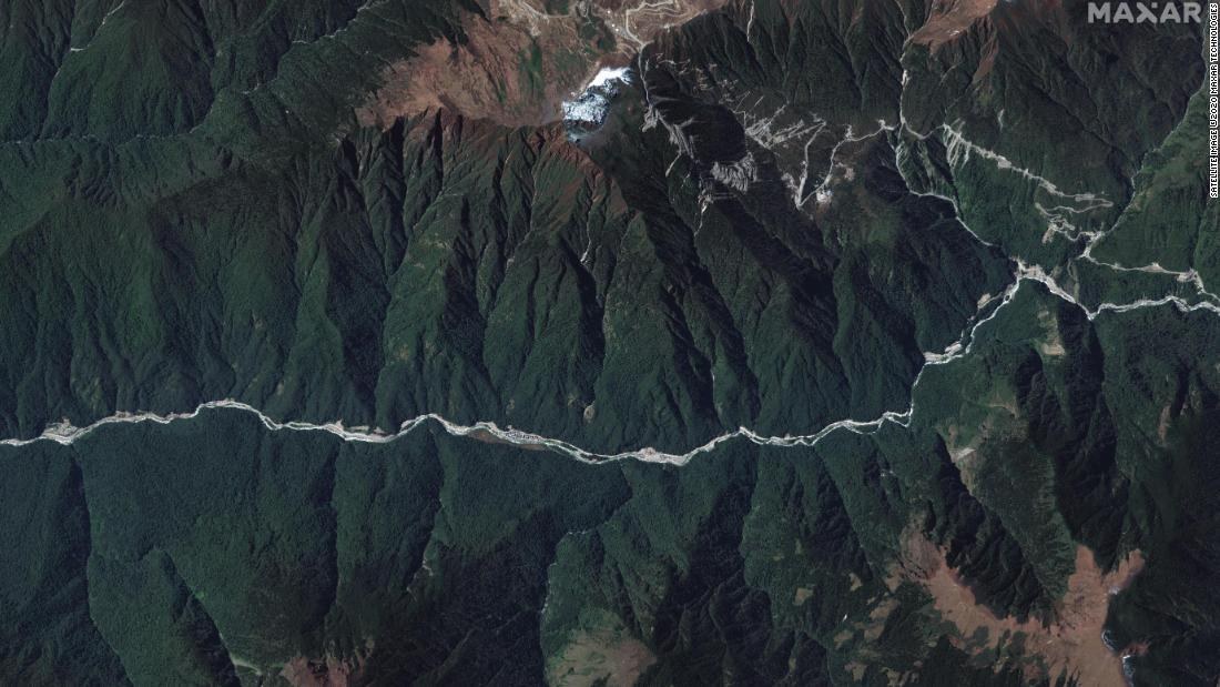 ドクラム地域の広域画像/Satellite image ©2020 Maxar Technologies