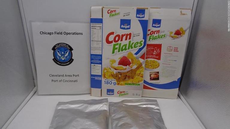 砂糖の代わりにコカインをまぶしたシリアルが押収された/U.S. Customs and Border Protection