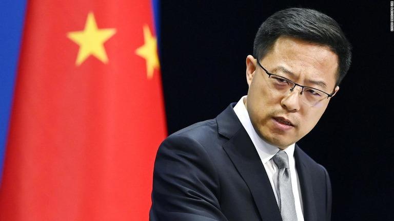中国外務省の報道官は新型コロナの肛門綿棒検査が実施されていたことを知らなかったと述べた/Kyodo News/Sipa USA
