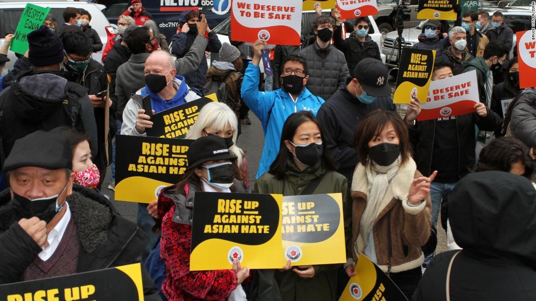 集会はアジア系米国人に対する暴力の増加に抗議する目的で行われた/Bruce Cotler/Zuma