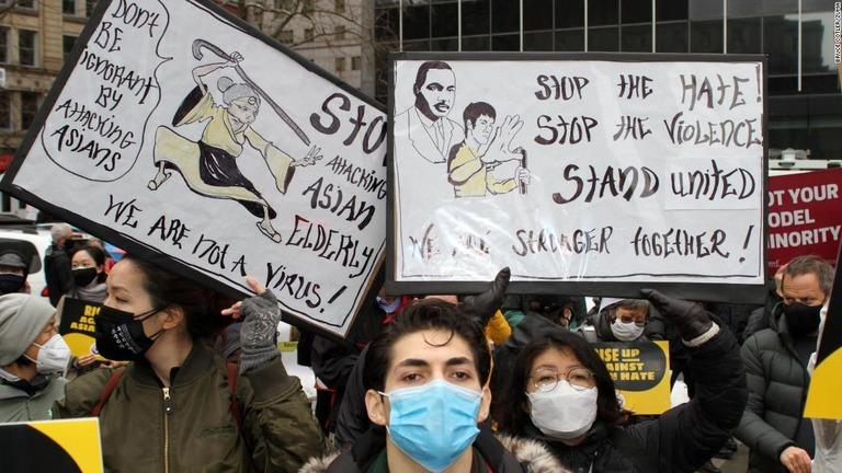 集会はニューヨーク市内の広場「フォーリ-・スクエア」で行われた/Bruce Cotler/Zuma