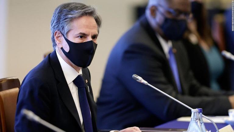 ブリンケン米国務長官が、スーダンからテロ被害に対する和解金を受け取ったと発表/Kiyoshi Oita/Pool/AFP/Getty Images
