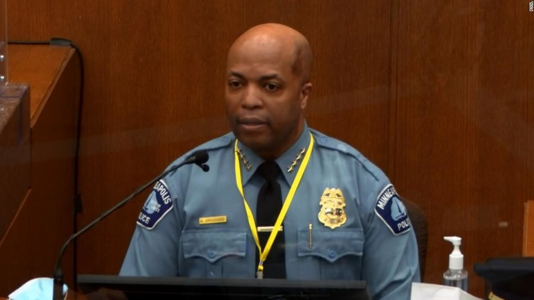 ショービン被告の制圧方法は「不適切」だったと、市警の本部長が証言した/Pool