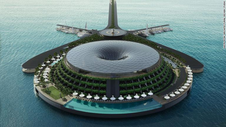 写真特集:海の上に環境配慮型のホテルを カタール