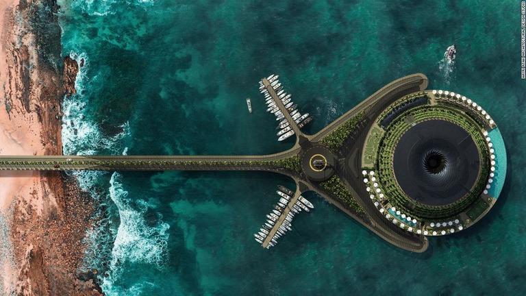 エコな海上ホテルの建設案、発電や雨水活用も カタール
