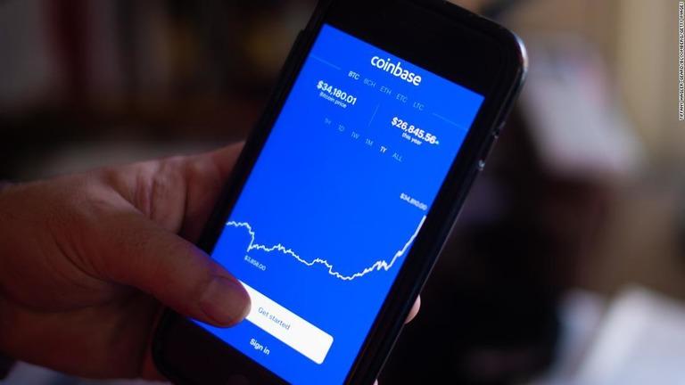 米仮想通貨交換所コインベースが上場、評価額は一時11兆円近く